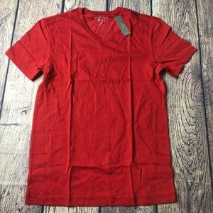 J. Crew Mercantile XS Red Washed Jersey V Neck Top